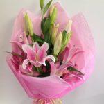 Pink Oriental Lily Wrap $35.00