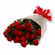 24 red rose bunch